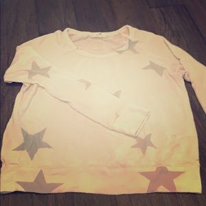 Sundry cozy long sleeve top with stars